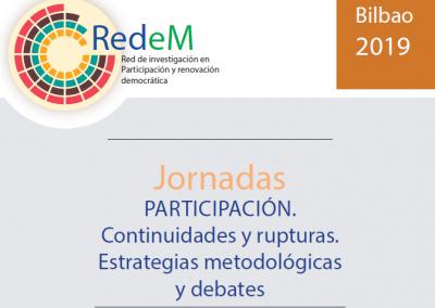Jornadas PARTICIPACIÓN. Continuidades y rupturas. Estrategias metodológicas y debates