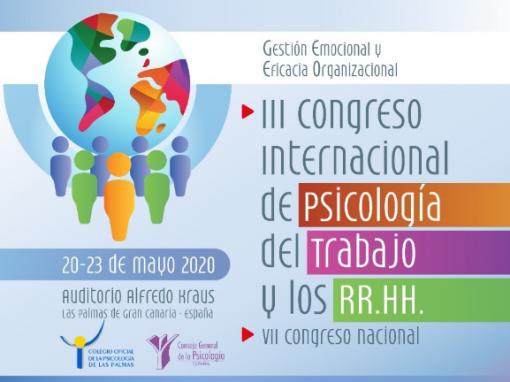 31-1-20, plazo para presentaciones al congreso de Psic. del Trabajo y RRHH