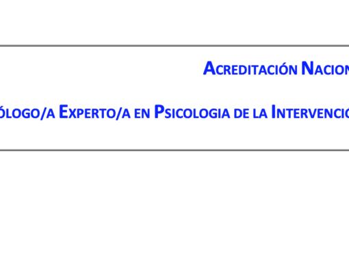 Acreditación profesional en Psicología de la Intervención Social