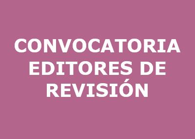 Convocatoria editores de revisión