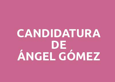 Ángel Gómez se presenta candidato al Comité Ejecutivo de la EASP