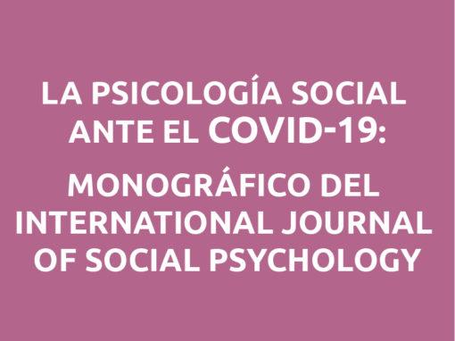 La Psicología Social ante el COVID-19: monográfico en RPS